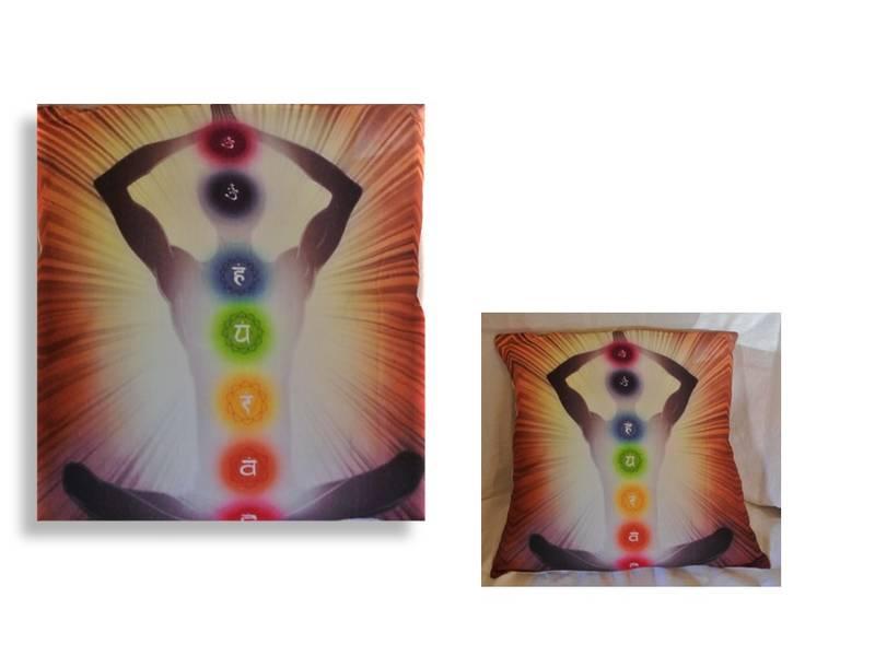 Putetrekk med yogamotiv