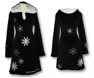 Bilde av Snøfnugg kjole, Sort med